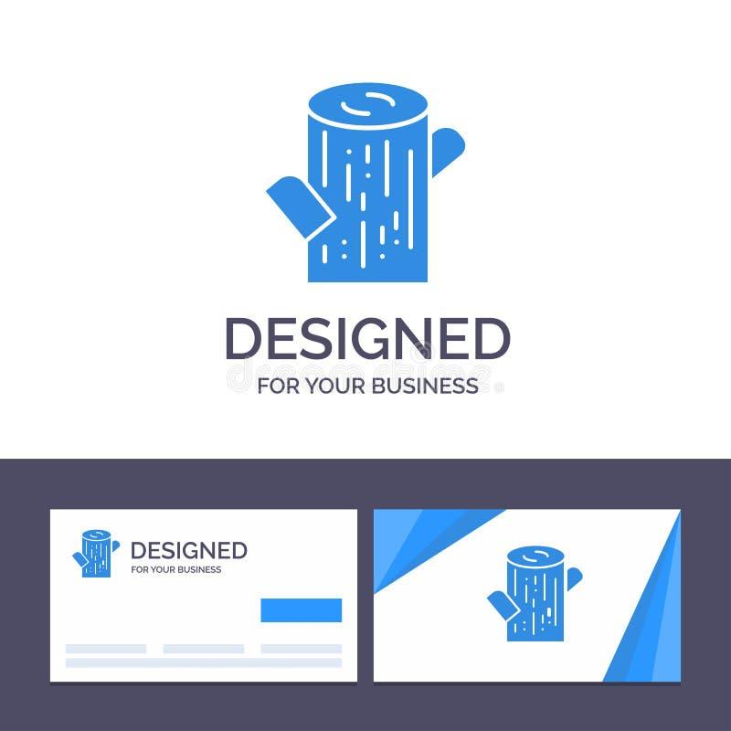Журнал творческого шаблона визитной карточки и логотипа, тимберс, деревянная иллюстрация вектора иллюстрация вектора