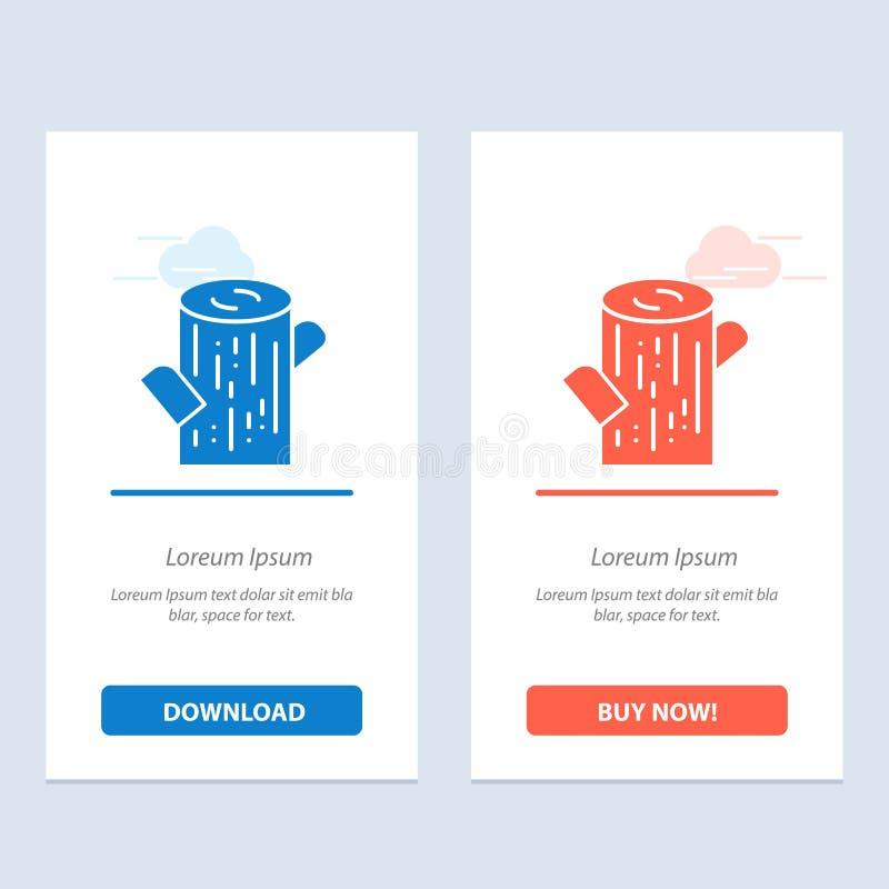 Журнал, тимберс, деревянная синь и красная загрузка и купить теперь шаблон карты приспособления сети иллюстрация штока