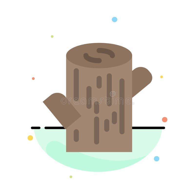 Журнал, тимберс, деревянный абстрактный плоский шаблон значка цвета иллюстрация вектора
