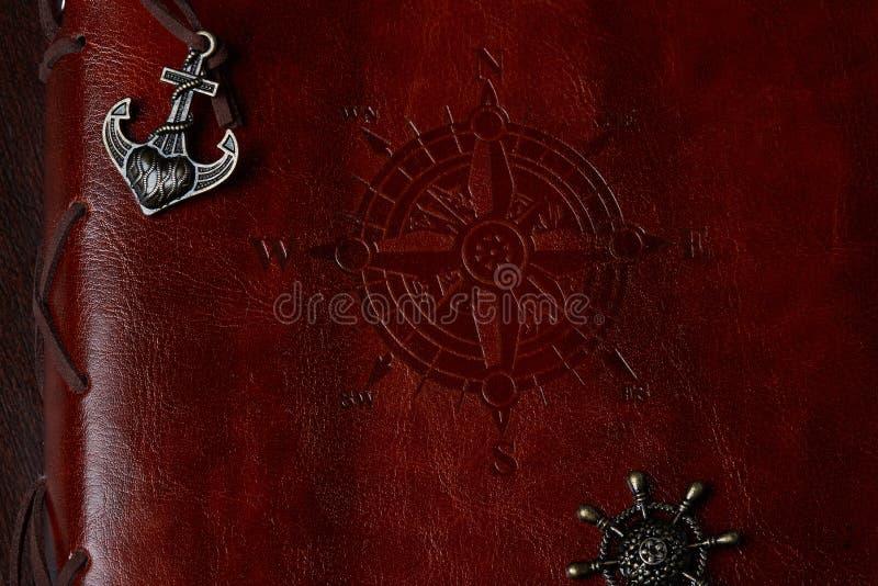 Журнал навигации ретро корабля стоковое изображение