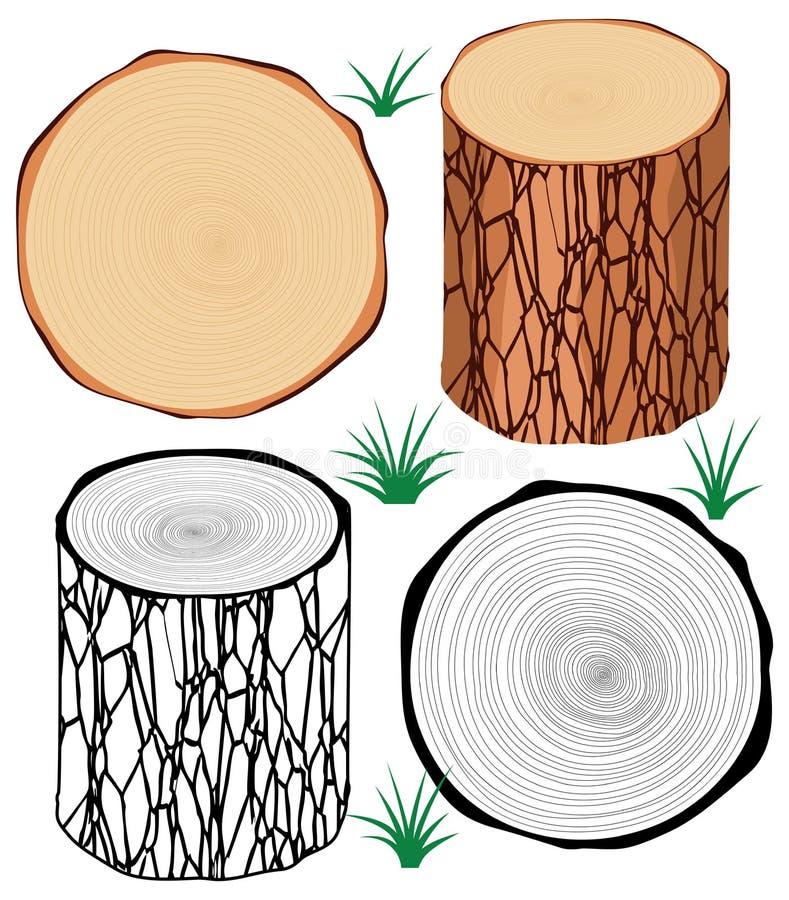 Журналы дерева иллюстрация вектора