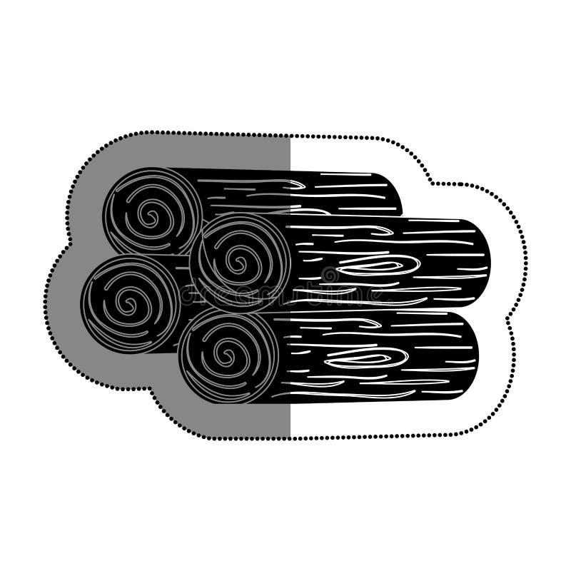 Журналы деревянной кучи иллюстрация вектора