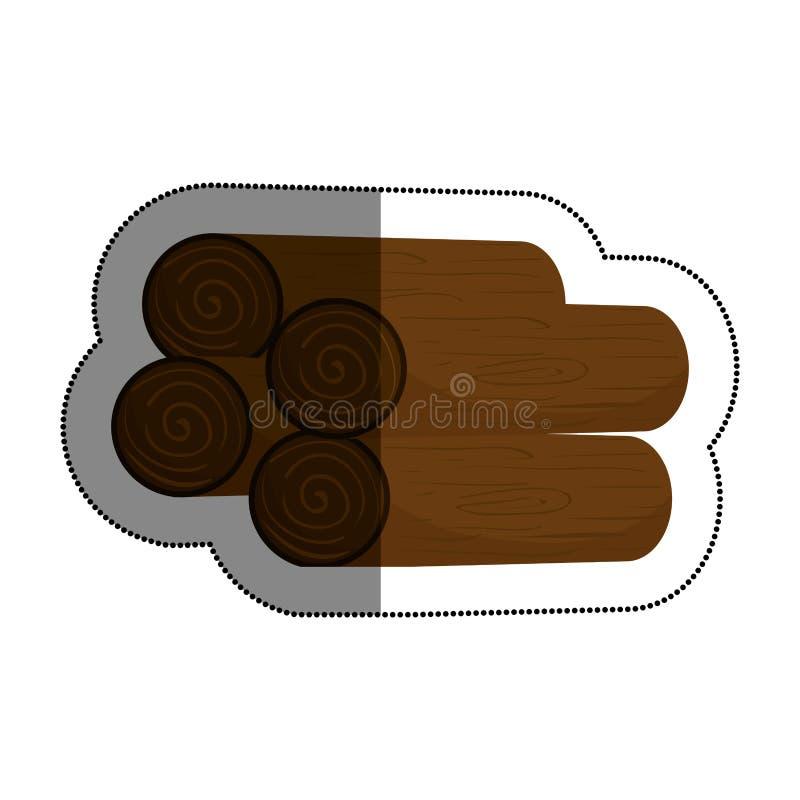 Журналы деревянной кучи бесплатная иллюстрация