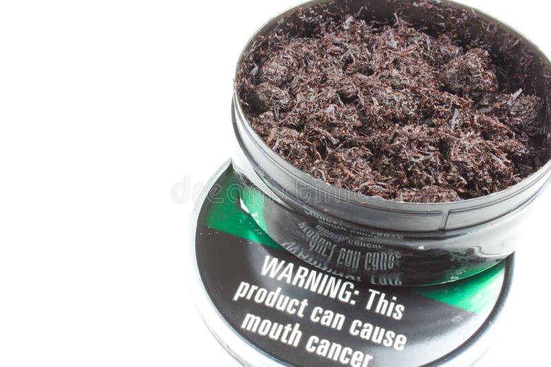жуя табак стоковое изображение rf