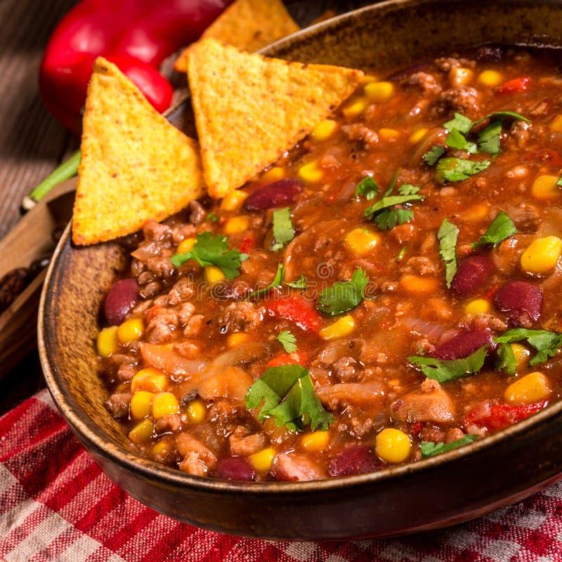 жулик chili carne стоковая фотография rf