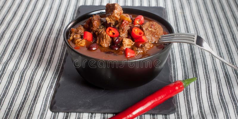 жулик chili carne стоковое изображение rf