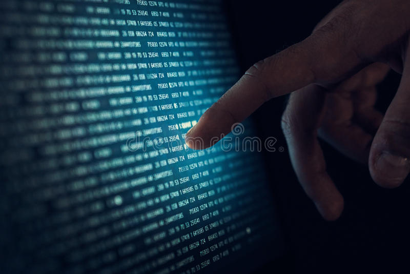Жёсткий диск, операционная система, компьютерные сети, рис, код, развитие алгоритмов стоковое фото