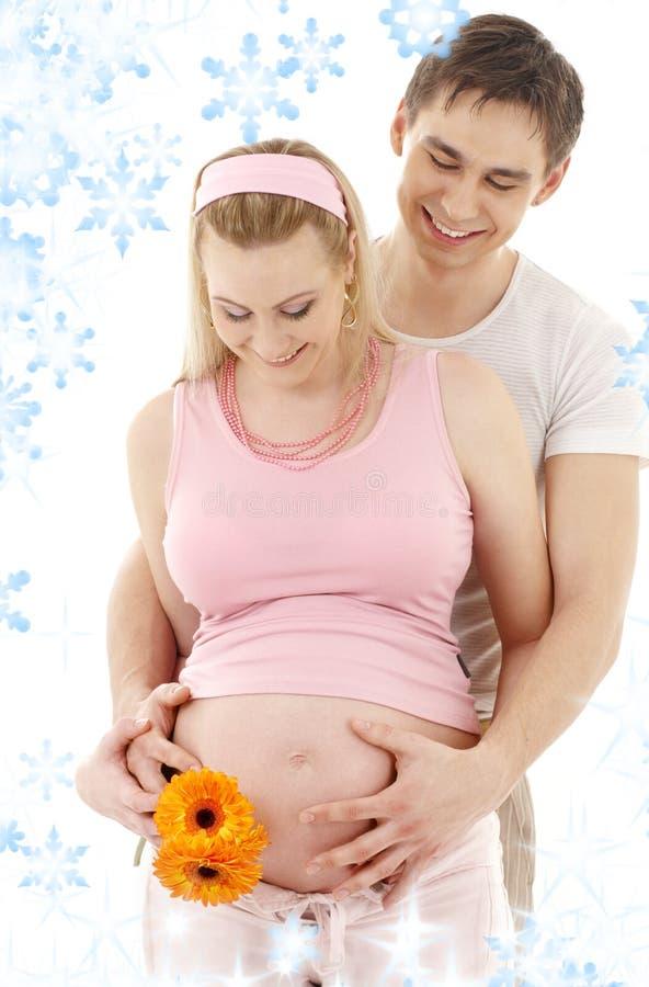 ждать пар младенца стоковые фотографии rf