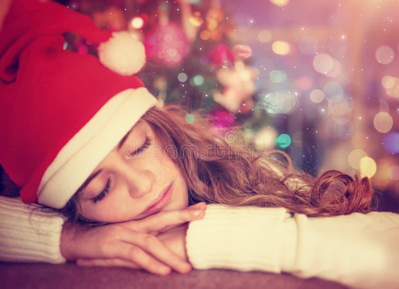 Ждать подарки рождества стоковое фото