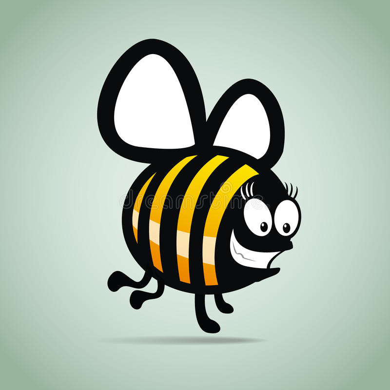 Забавная пчела иллюстрация штока