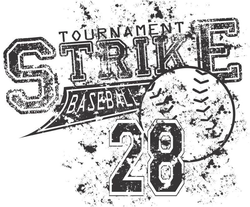 Забастовка бейсбола иллюстрация штока