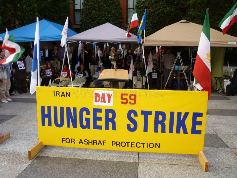 забастовка голода иранская стоковое фото rf