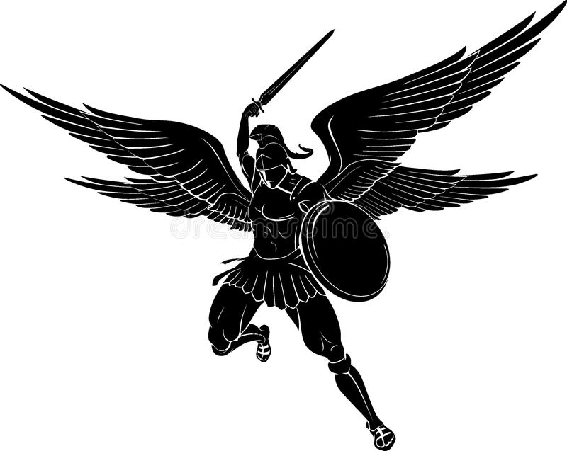 Забастовка шпаги Архангела бесплатная иллюстрация