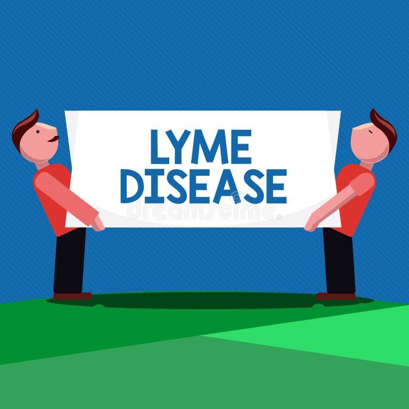 Заболевание Lyme текста почерка Форма смысла концепции артрита причиненная бактериями которые получать тиканиями иллюстрация вектора