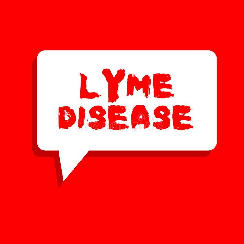 Заболевание Lyme текста сочинительства слова Концепция дела для формы артрита причиненной бактериями которые получать тиканиями иллюстрация вектора