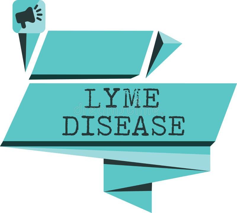 Заболевание Lyme текста сочинительства слова Концепция дела для формы артрита причиненной бактериями которые получать тиканиями бесплатная иллюстрация