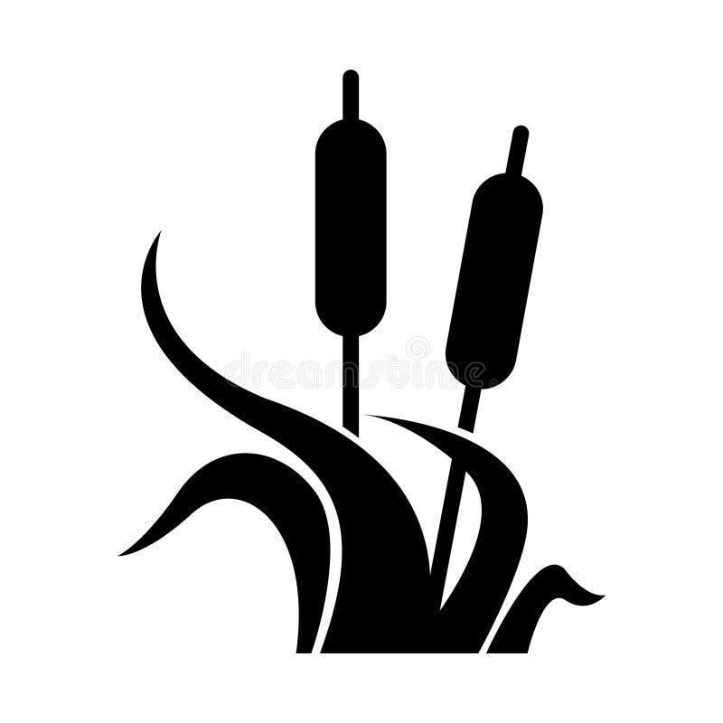 Заболоченные места значок, иллюстрация вектора бесплатная иллюстрация