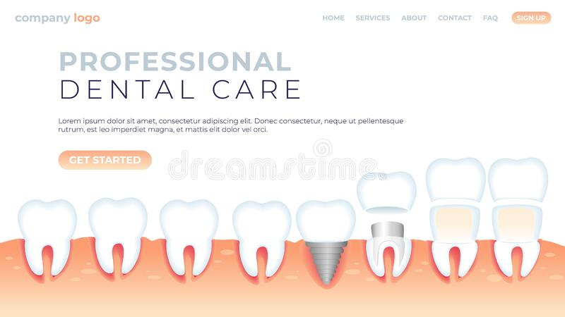 Забота иллюстрации вектора профессиональная зубоврачебная бесплатная иллюстрация
