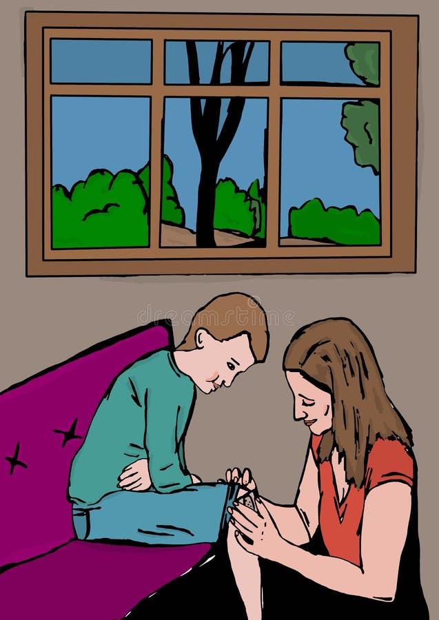 Заботы мамы бесплатная иллюстрация