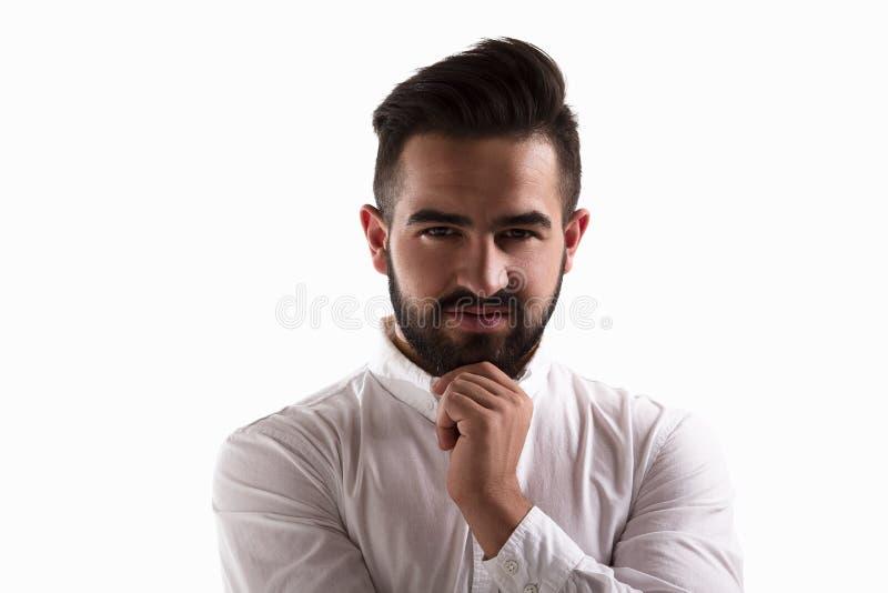 Заботливый красивый человек стоковое изображение rf
