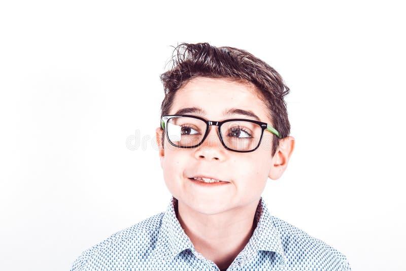 Заботливый подросток с стеклами стоковое изображение rf
