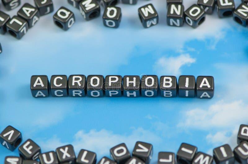 Заболевание акрофобии стоковая фотография