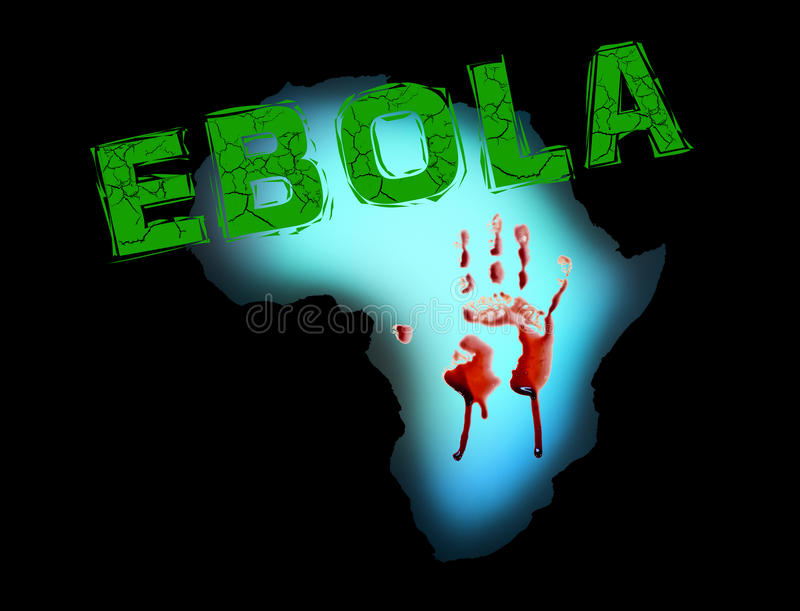 Заболевание пандемии Африки ируса Эбола иллюстрация вектора
