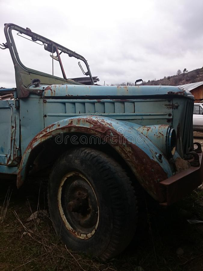 забытый автомобиль стоковое изображение rf