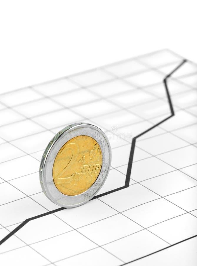 завальцовка диаграммы монетки стоковые фотографии rf