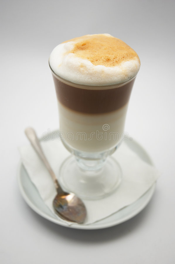 заваренное frappe dof кофе как раз отмелое стоковая фотография
