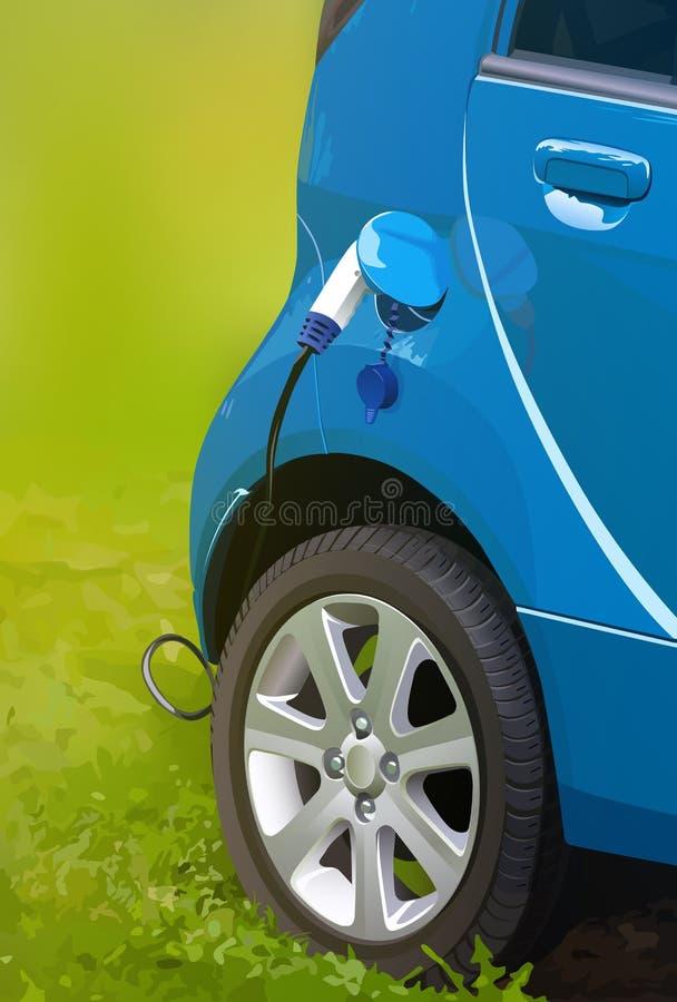 Завалка электрического автомобиля бесплатная иллюстрация