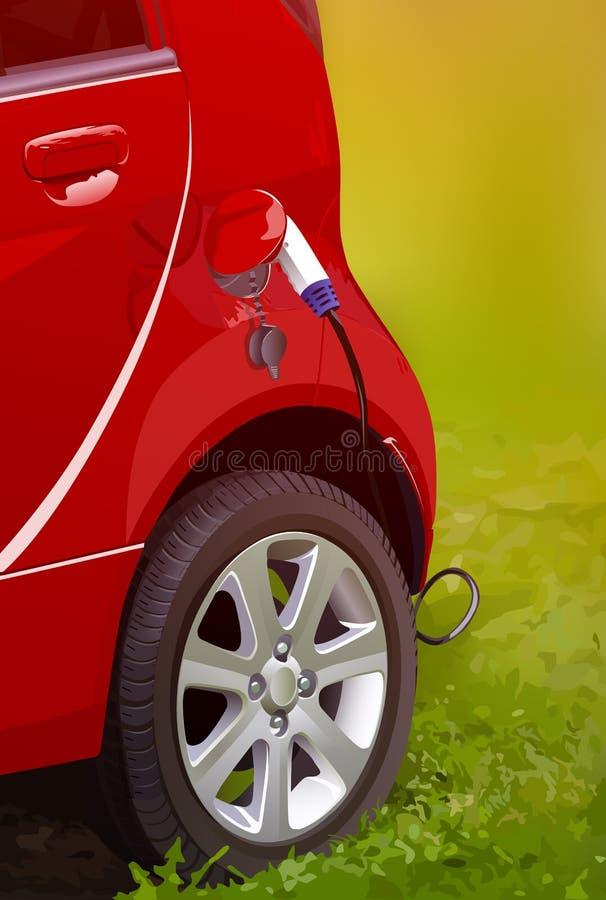 Завалка электрического автомобиля иллюстрация штока