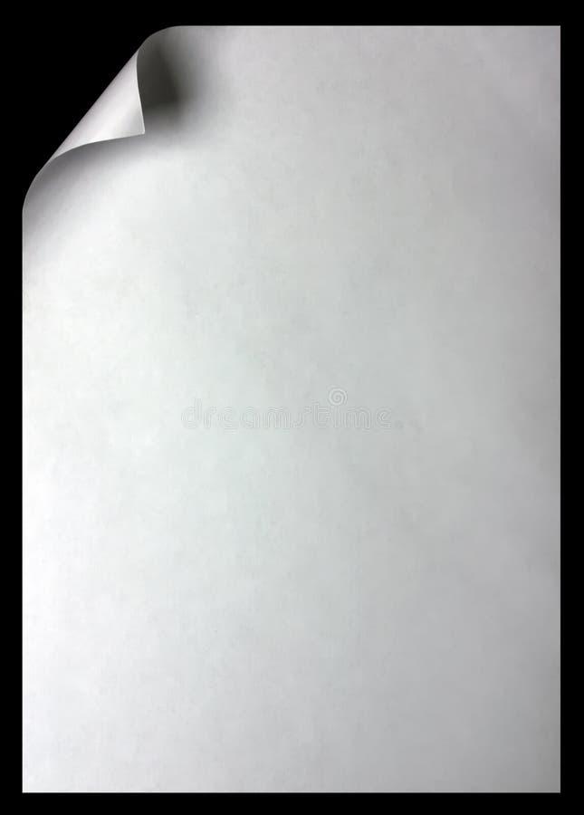 завейте бумагу страницы стоковые изображения