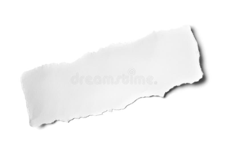 заверните белизну в бумагу стоковое фото