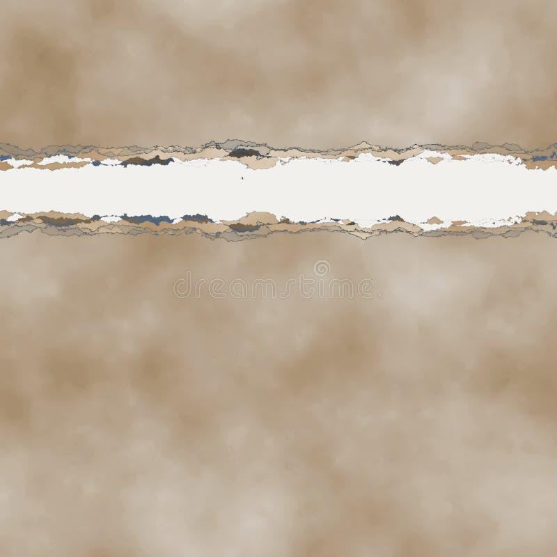 заверните в бумагу сорвано сорвано иллюстрация вектора