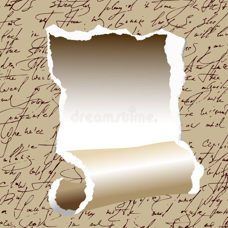 заверните в бумагу сорвано иллюстрация штока