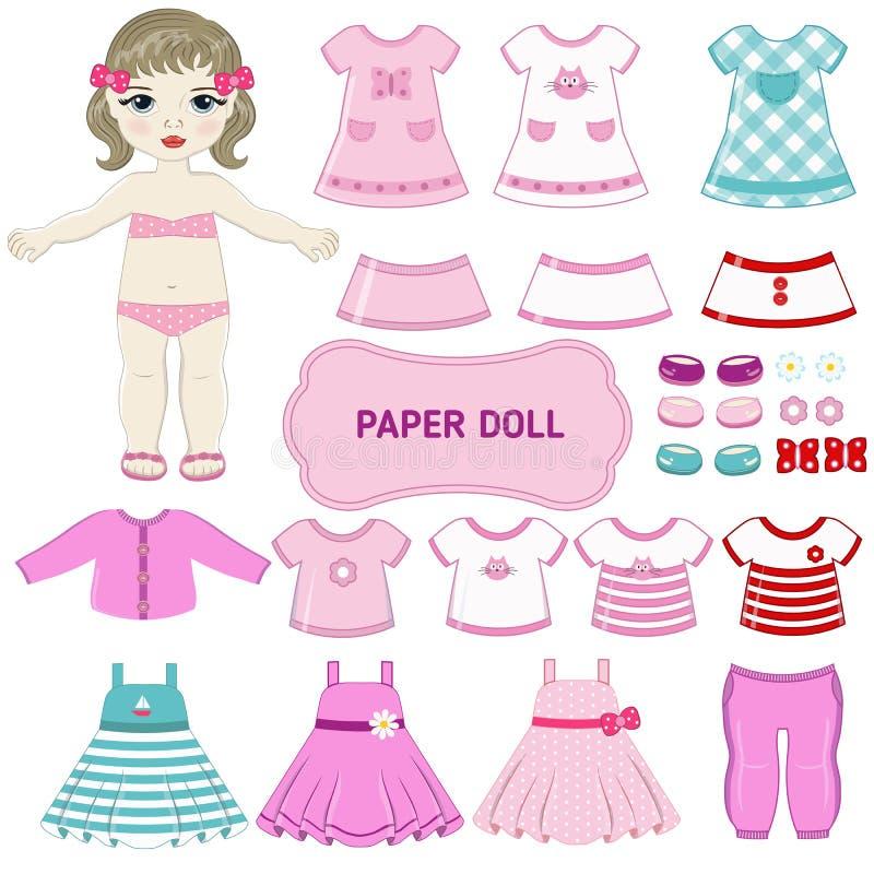 Заверните куклу в бумагу бесплатная иллюстрация