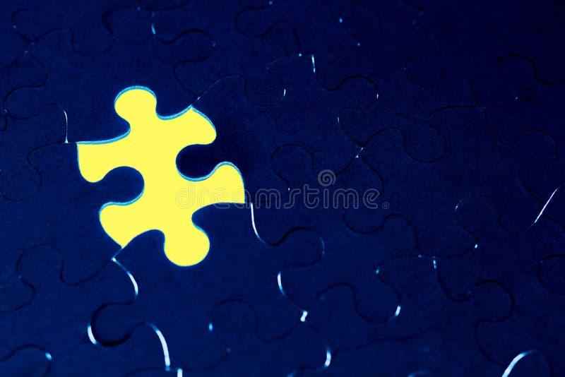 Завершение отсутствия концепции головоломки для дела стоковые изображения rf