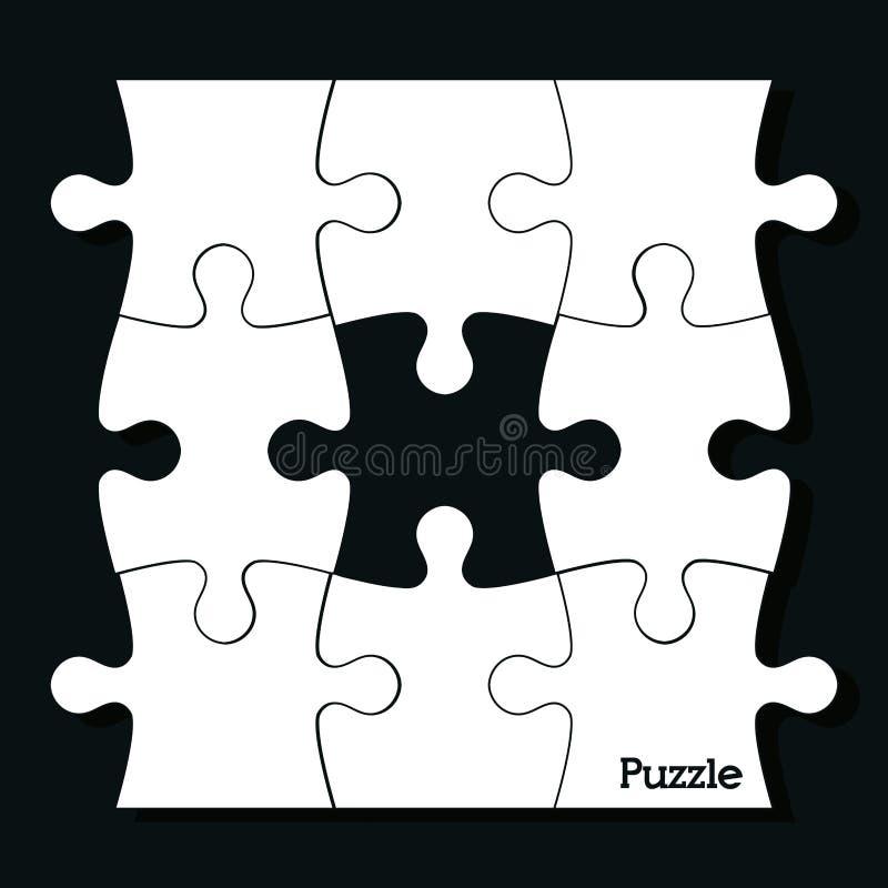 завершенная 7x7 головоломка иллюстрации конструкции просто иллюстрация вектора