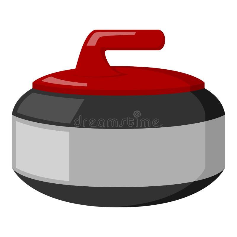 Завивая каменный плоский значок изолированный на белизне бесплатная иллюстрация