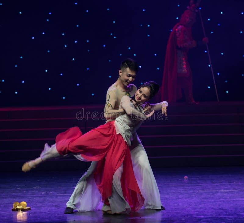 Зависите на-имейте взаимный сродств-китайский народный танец стоковые изображения rf