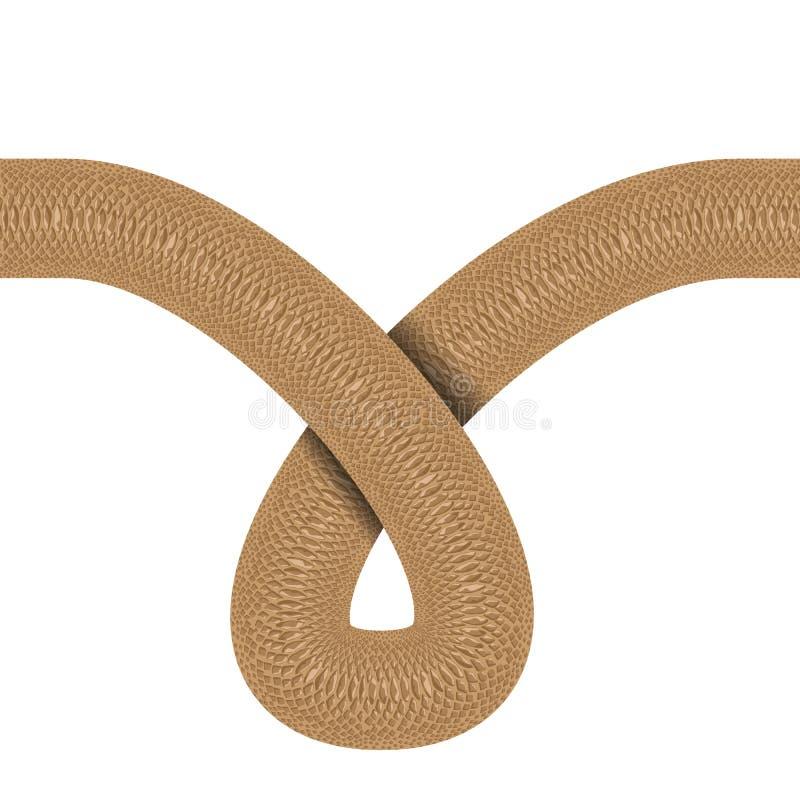 Завитая линия горизонтальная безшовная предпосылка кожи змейки также вектор иллюстрации притяжки corel иллюстрация штока