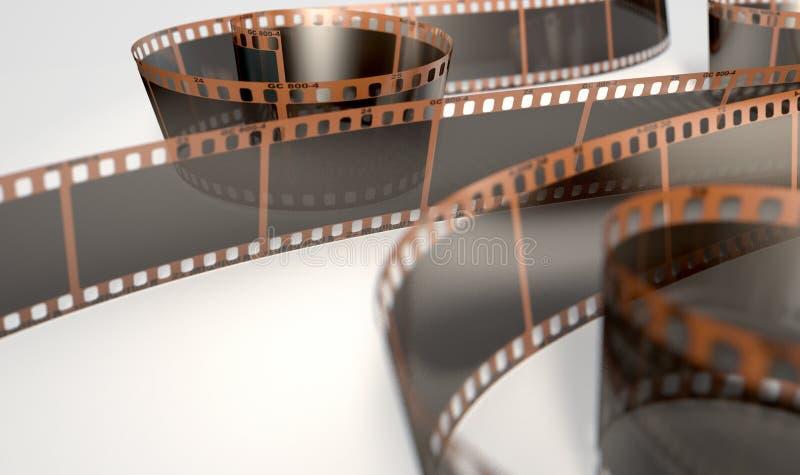 Завитая прокладка фильма иллюстрация вектора