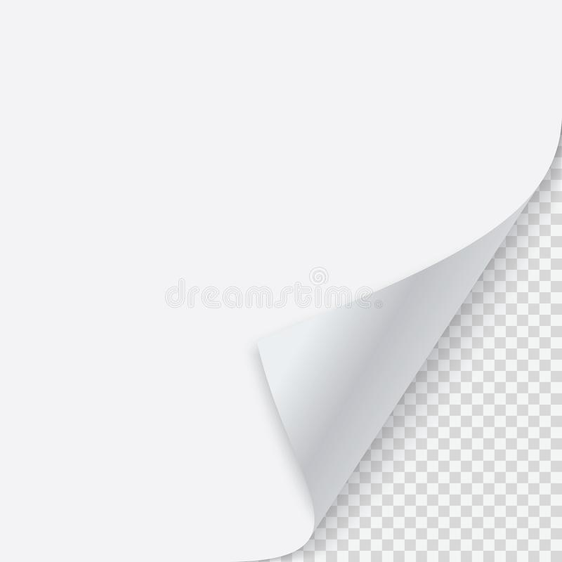 Завитый угол бумаги с тенью бесплатная иллюстрация