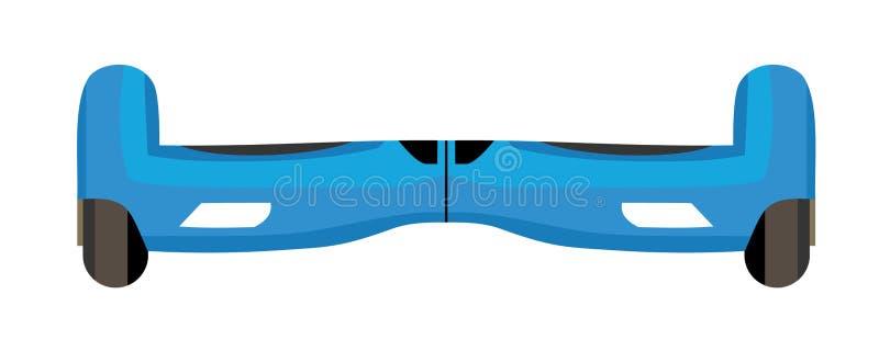 Завишите доска, собственная личность двойного колеса балансируя электрический скейтборд умный иллюстрация вектора