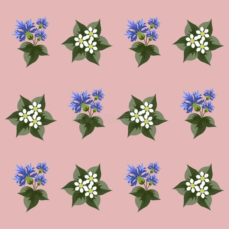 Заводы и цветки для вектора предпосылки плоско иллюстрация вектора
