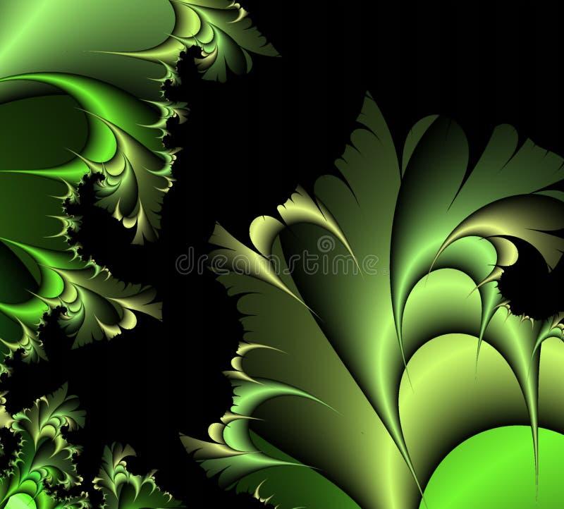 заводы фантазии зеленые иллюстрация вектора