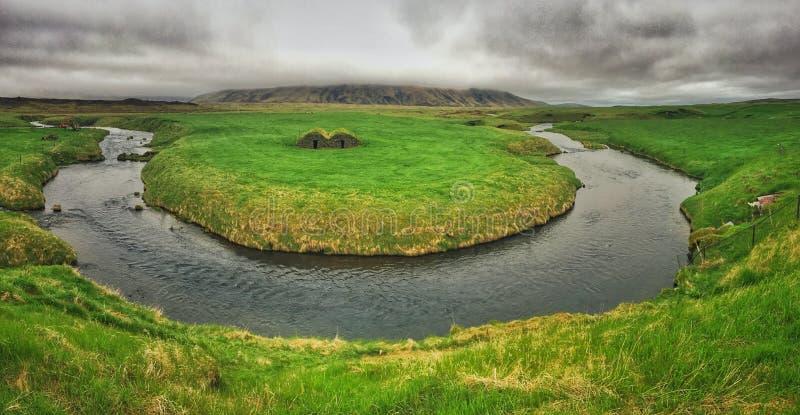 Заводь в Исландии стоковое изображение