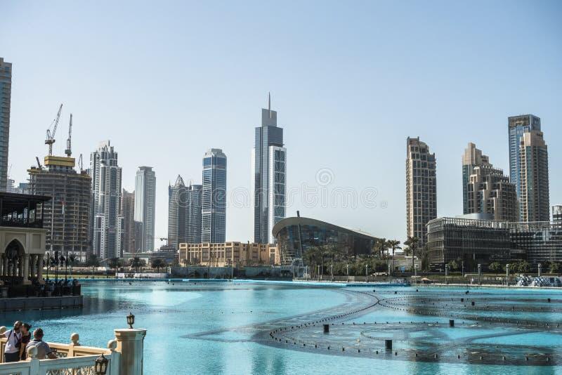 заводь Дубай зданий самомоднейший стоковые фотографии rf