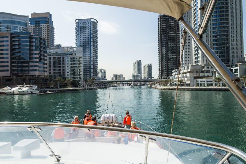заводь Дубай зданий самомоднейший стоковое фото